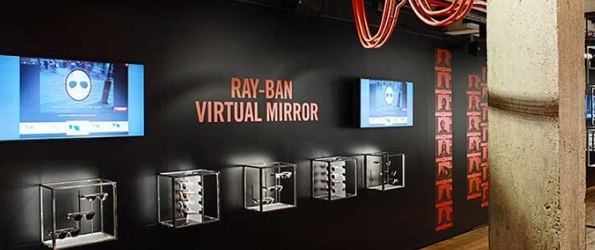 Ray ban boutique for Miroir virtuel lunettes