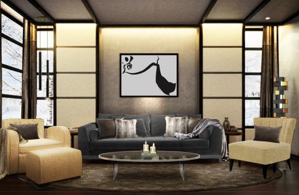 Salon japonais moderne id es de d coration et de for Interieur japonais design