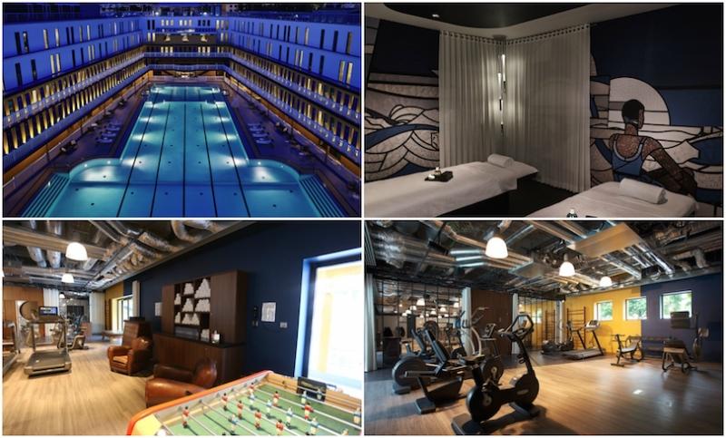 salle de sport design en images salle de sport design design mural par mel et kio salle de. Black Bedroom Furniture Sets. Home Design Ideas