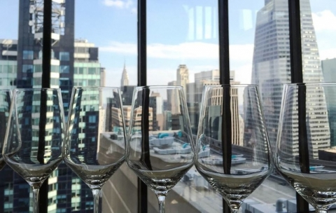 Panoramic View At The View Restaurant In New York City