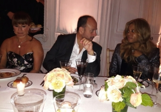 Arnold Cohen CEO of Ghurka with his wife and Stephanie Horton Farfetch